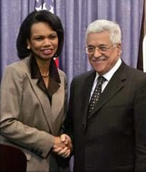 Rice and Mahmoud Abbas