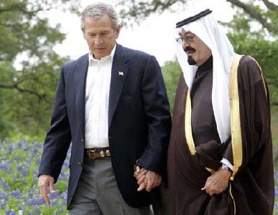 President Bush with Saudi King Abdullah