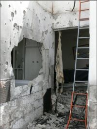 Sderot home hit by Qassam