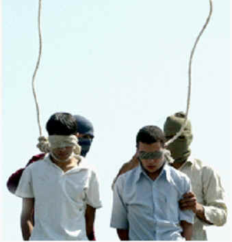 Hanging gay teenagers in Mashad, Iran