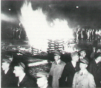 Nazi bookburning at Platz Am Opernhaus