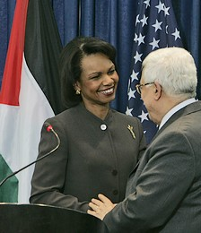 Condoleezza Rice meets Mahmoud Abbas