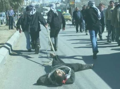 'Collaborator' dragged through the streets of Hebron
