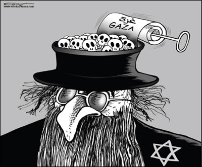 Anti-Semitic Qatari cartoon