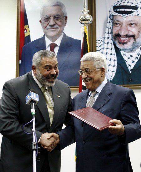 Abbas with Haniyeh
