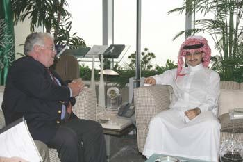 Chas Freeman with Alwaleed bin Talal