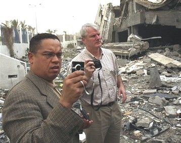 Keith Ellison (L) and Brian Baird in Gaza