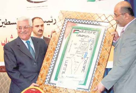 'Moderate' Abbas displays 'moderate' map of 'Palestine'