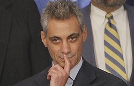 Rahm Emanuel strikes a pose at AIPAC meeting