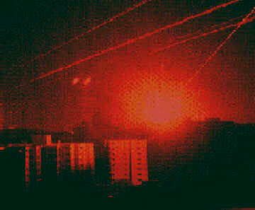 Iraqi Scud explodes in Tel Aviv