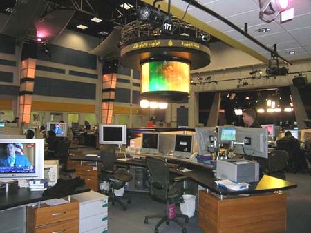 Newsroom at Al-Jazeera in Doha, Qatar