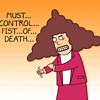 The Fist of Death (courtesy, Dilbert)