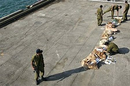 Half-ton of TNT taken from fishing boat off Gaza