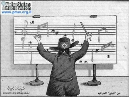 2005 antisemitic cartoon in Palestinian newspaper Al-Hayat Al-Jadida