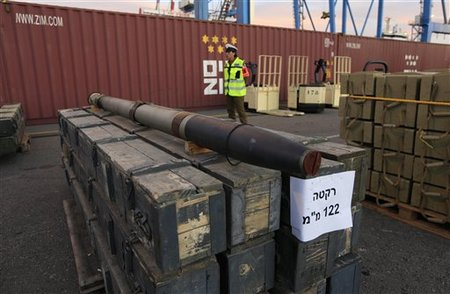 One of the thousands of rockets captured on its way from Iran to Hezbollah