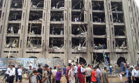 What's left of the Iraqi Justice Ministry after last Sunday's massive suicide bombing