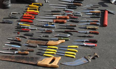 Knives and tools used as weapons on Mavi Marmara