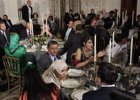 Iftar dinner hosted by President Obama at the White House last night, at which he voiced support for Ground Zero mosque.