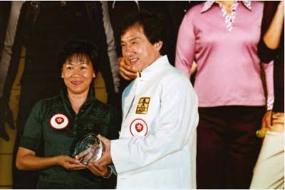 The mysterious Consolacion Esdicul with the great Jackie Chan