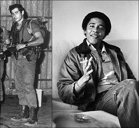How they spent their early 20's: Binyamin (Bibi) Netanyahu and Barack Obama