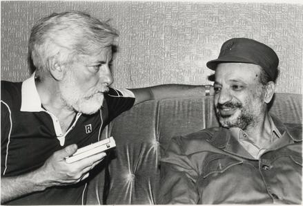 Uri Avnery meets with Arafat in Beirut, 1982