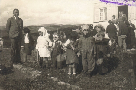 Little Zionists celebrate Purim in Kibbutz Sarid, 1930's