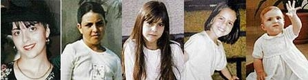 Tali Hatuel and her four daughters, murdered by the PRC in May, 2004
