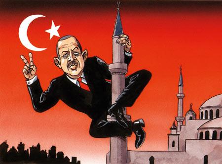 Turkey's Islamist Prime Minister Tayyip Erdoğan. Can he climb down?