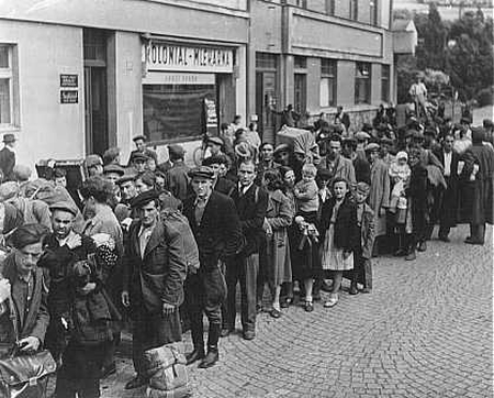 Jewish refugees, Czechoslovakia, 1946. Israel made room for them.