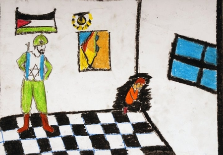 Drawing allegedly made by a Palestinian child in Gaza