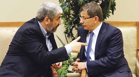 Hamas leader Khaled Meshaal meets Turkey's Foreign Minister Ahmet Davutoğlu in Ankara, 2006