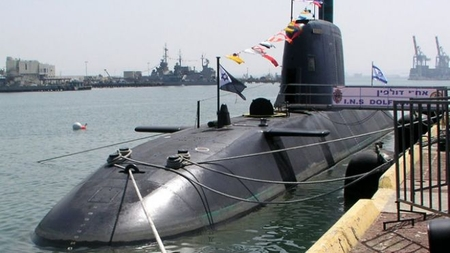 One of Israel's Dolphin-class submarines