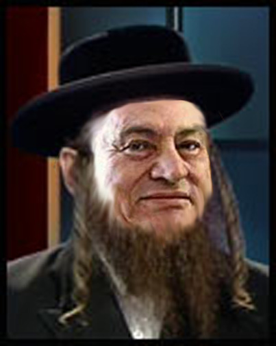 Hosni Mubarak as a Jew. In the Muslim Middle East there's no difference between hating Israel and hating Jews.