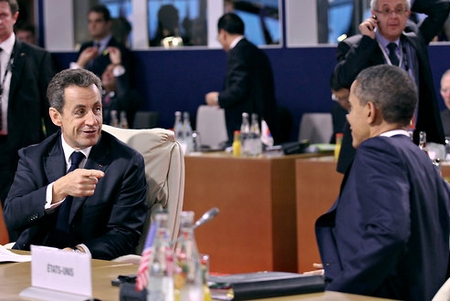 Sarkozy and Obama at the G20 Summit.