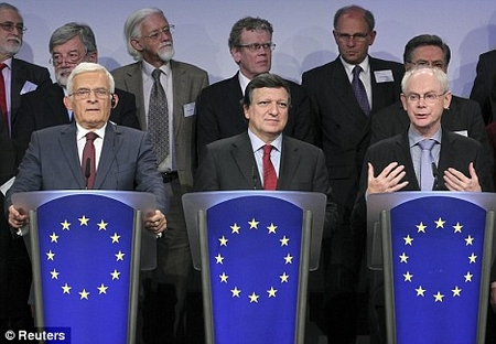 European Union officials. Fix your own problems, leave Israel alone!
