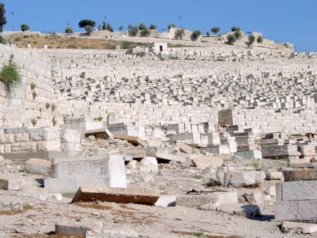 Vandalism at Jerusalem's Mt. of Olives Cemetery
