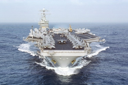 The USS Dwight Eisenhower. Do the Iranians really want to fight the US?