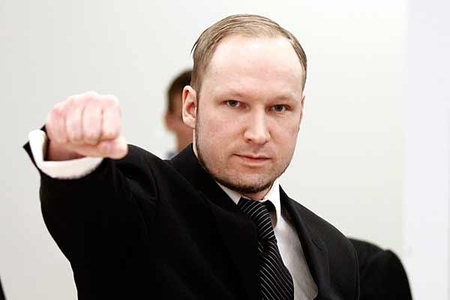 "Anders Behring Breivik gives ""right-wing salute"" in court"