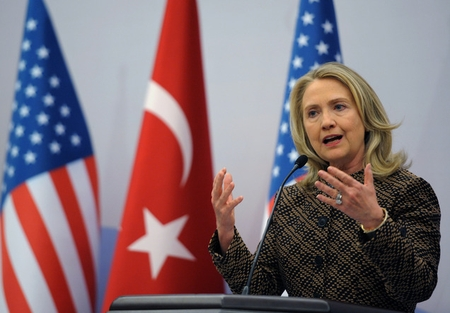 Secretary of State Clinton apologizes on behalf of US at Global Counterterrorism Forum in Istanbul