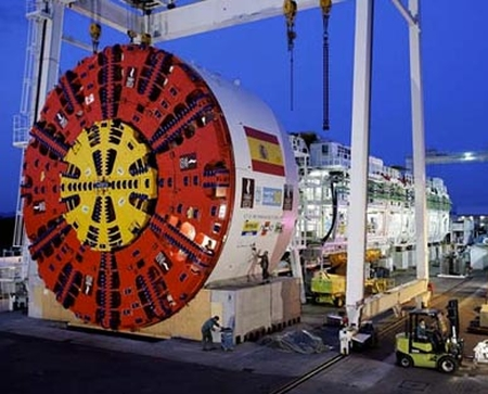 A Herrenknecht tunnel boring machine