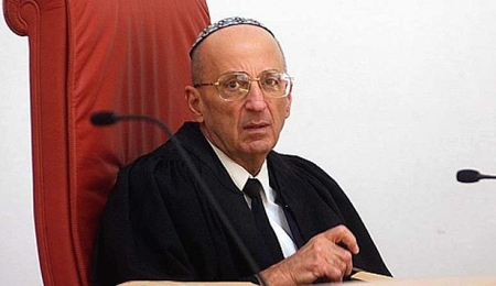 Former Israeli Supreme Court Justice Edmond Levy. Unlike the NY Times, no ghetto mentality.