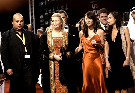 The divine Suha at the Dubai Film Festival in 2011