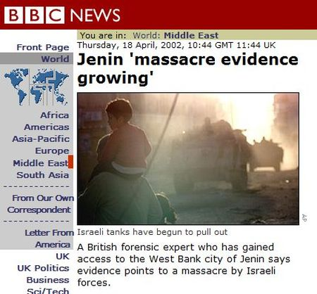 The BBC massacres the truth (courtesy Honest Reporting)