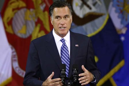 Mitt Romney speaks about foreign policy at Virginia Military Institute, Oct. 8, 2012