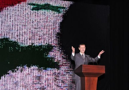 Bashar al-Assad speaks in Damascus last week