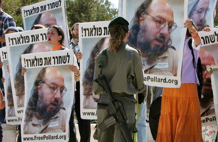 Israeli demonstrators call for Pollard's release, 2005