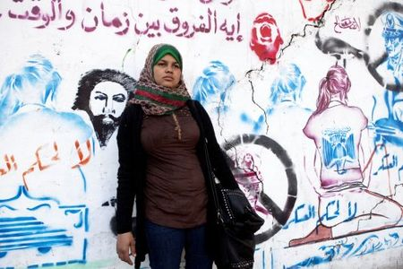Samira Ibrahim in Tahrir Square. Not afraid of Zionists