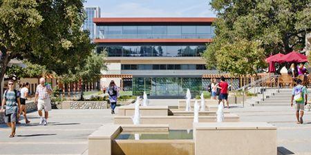 Scene at Claremont McKenna College, near Los Angeles