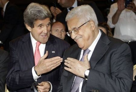 Kerry and Abbas at World Economic Forum