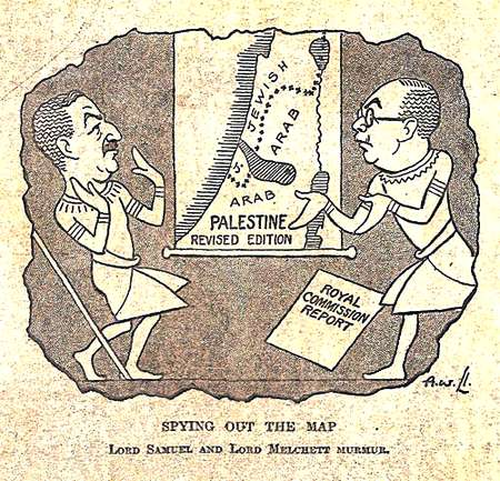 "The Peel Commission's ""two-state solution,"" 1937"